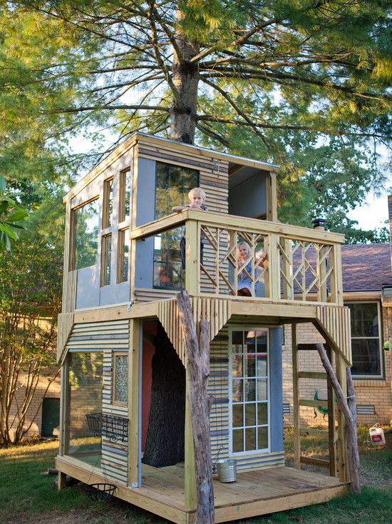 Pin By Julie Place On Home Renovations Tree House Kids Play Houses Tree House Designs