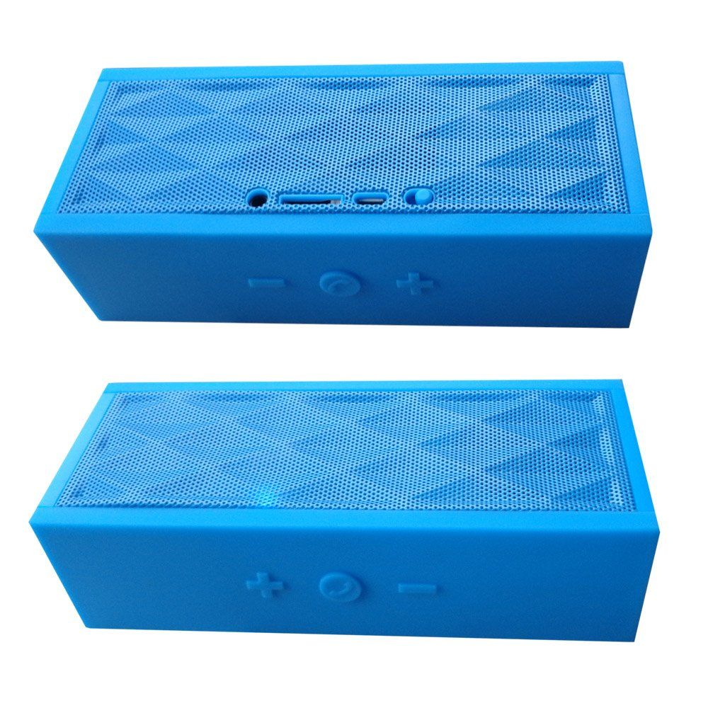 Sungale Water Cube Stereo Bluetooth Speaker with Microphone and Multi-Function (SBK003). Compact Portable Design. Amazing sound quality in one little speaker. Built in rechargeable battery. Enjoy hands free phone conversation.