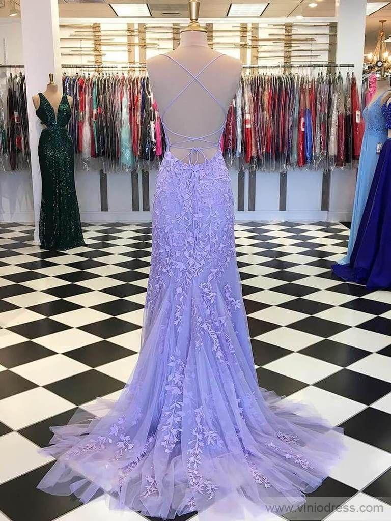 Mermaid Lace Lilac Long Prom Dresses Spaghetti Strap Evening Dress Fd1250 In 2020 Lilac Prom Dresses Lavender Prom Dresses Backless Prom Dresses [ 1024 x 768 Pixel ]