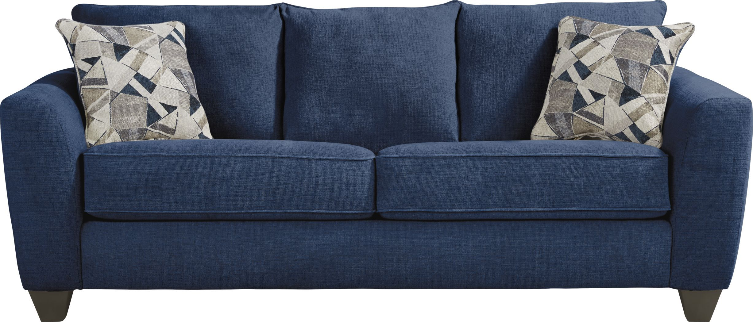Sandia Heights Blue Sleeper In 2021 Blue Sofa Rooms To Go Blue Sofa Room