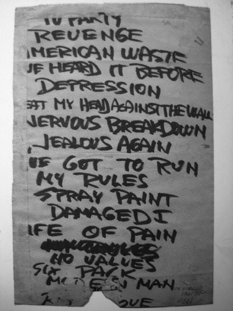 The coloring book tour setlist - Black Flag Setlist
