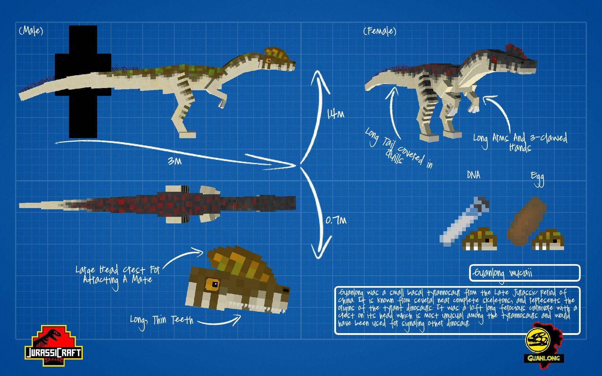 Jurassic Craft Guanlong Jurassic Craft Dinosaur Prehistoric