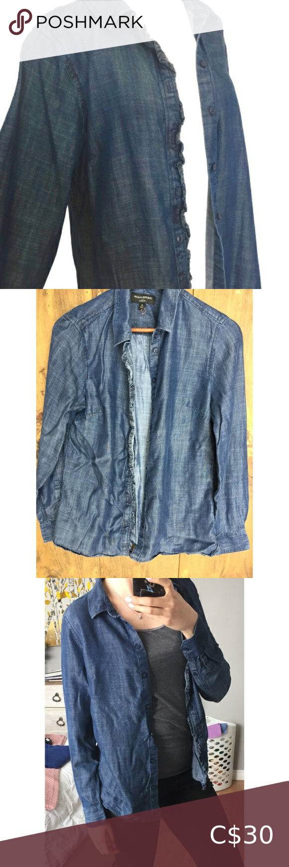 Banana Republic Denim Blouse