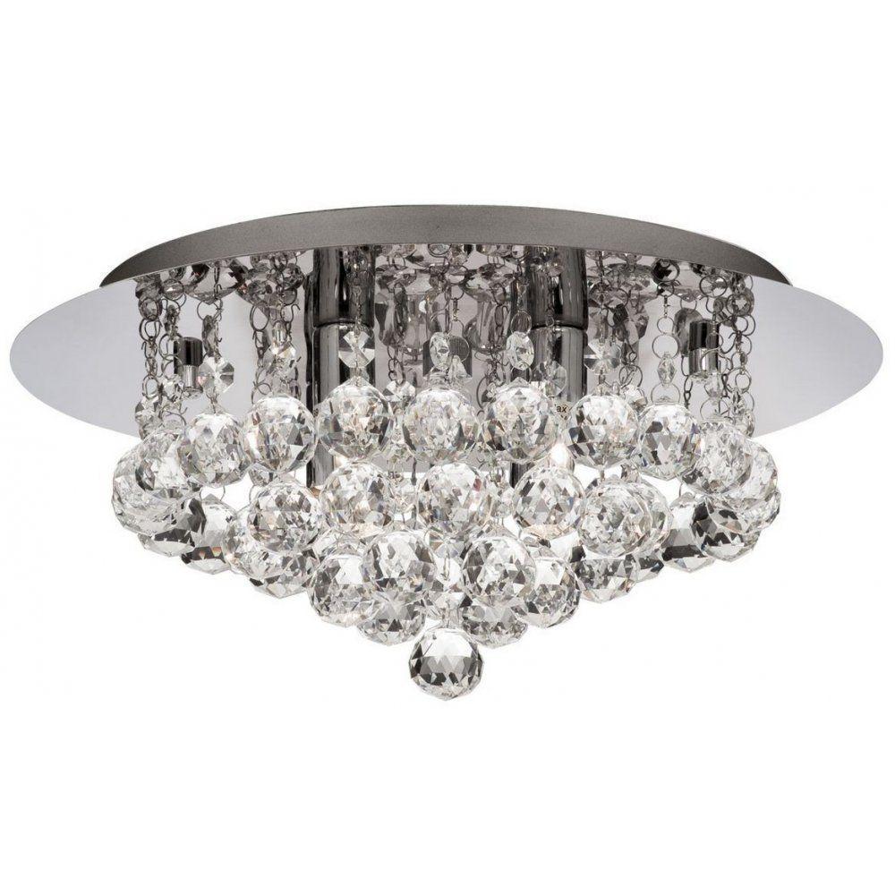 Bathroom Lights Sale searchlight 4404-4cc hanna modern crystal flush bathroom ceiling