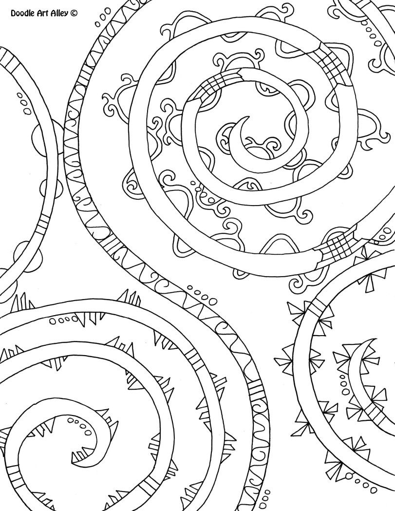 Abstract Coloring Pages Doodle Art Alley | Coloring Pages ...