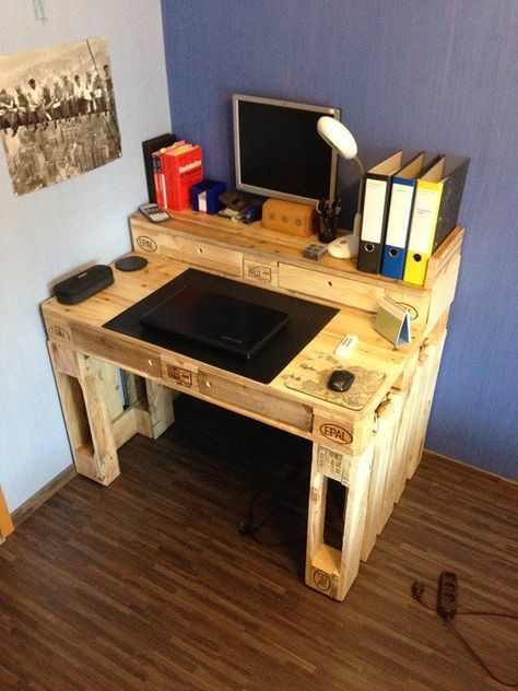 Pallet Computer Desk 99 Pallets Pallet Projects Furniture Diy Pallet Furniture Woodworking Projects Diy