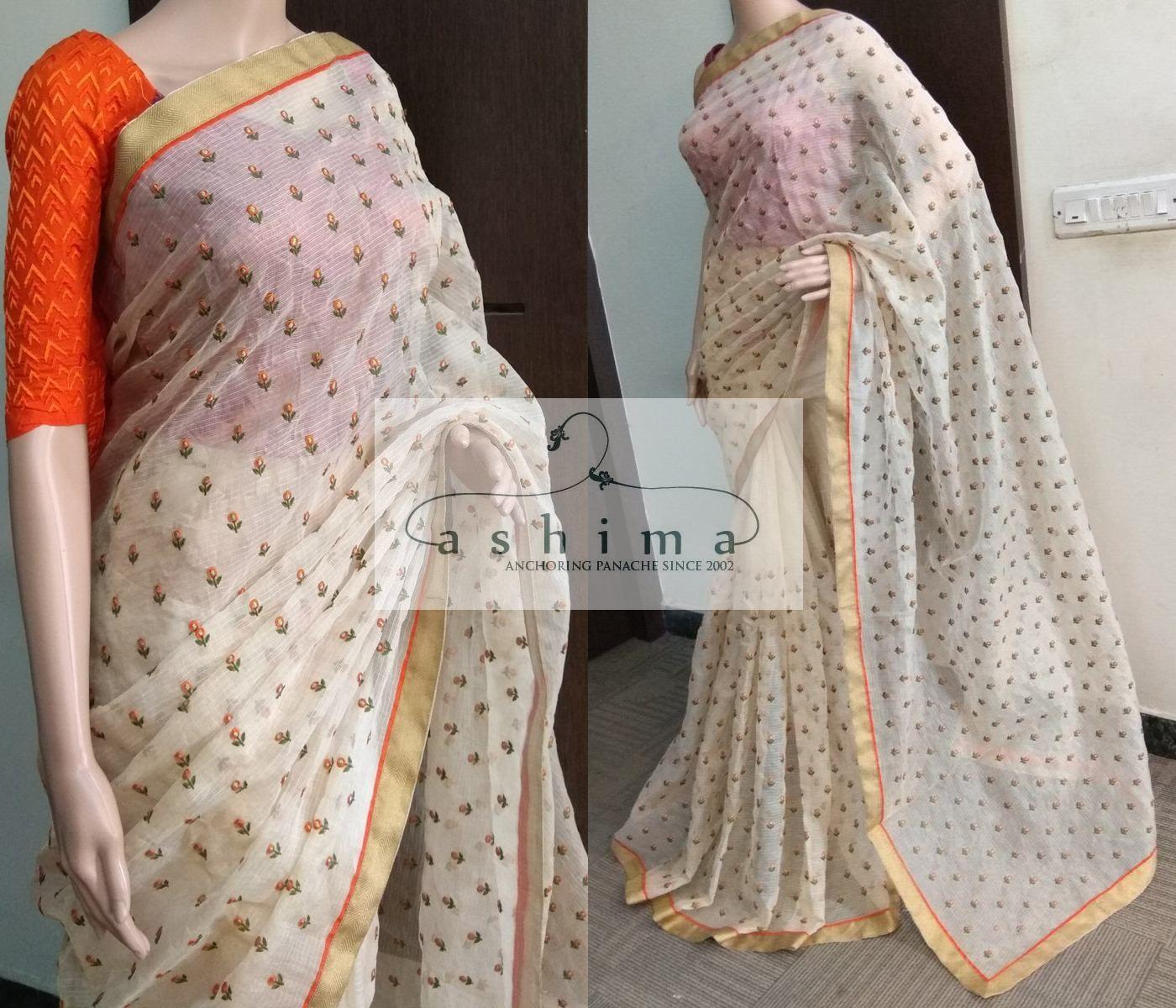 Tissue silk saree code  price inr  embroidered tissue kota saree