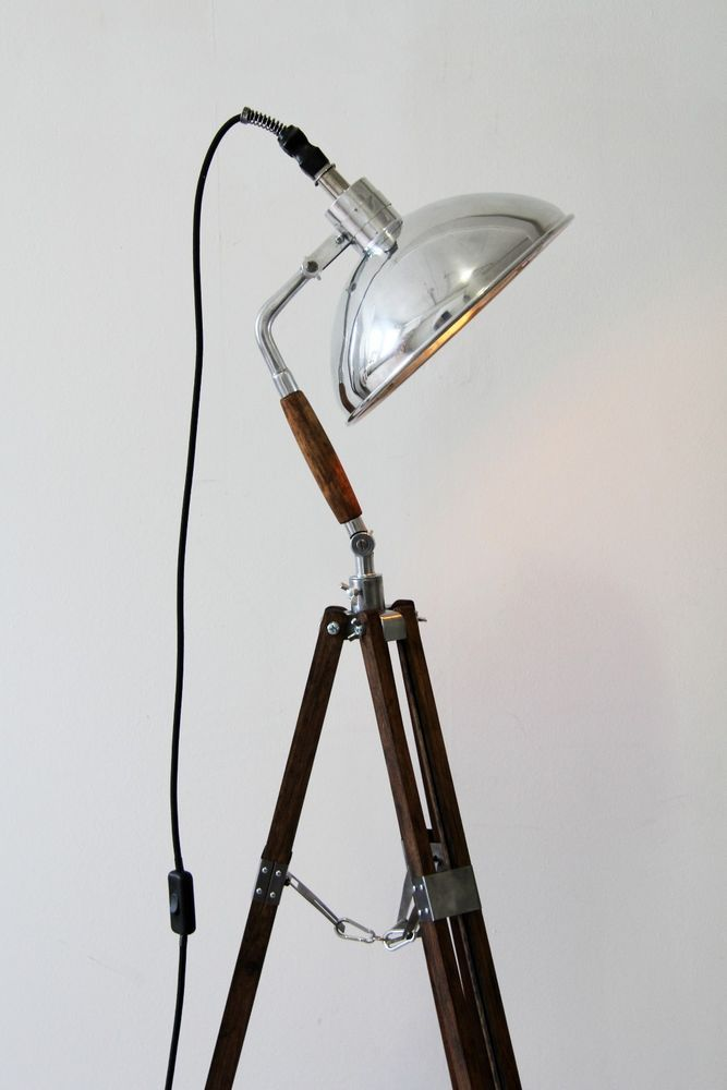 Luxury Tripod Steh Foto Arzt Studio Lampe Holz Stativ Vintage Loft Bauhaus Retro Edison in M bel u