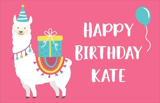 Birthday Llama Placemats | Birthday, Personalized birthday ...