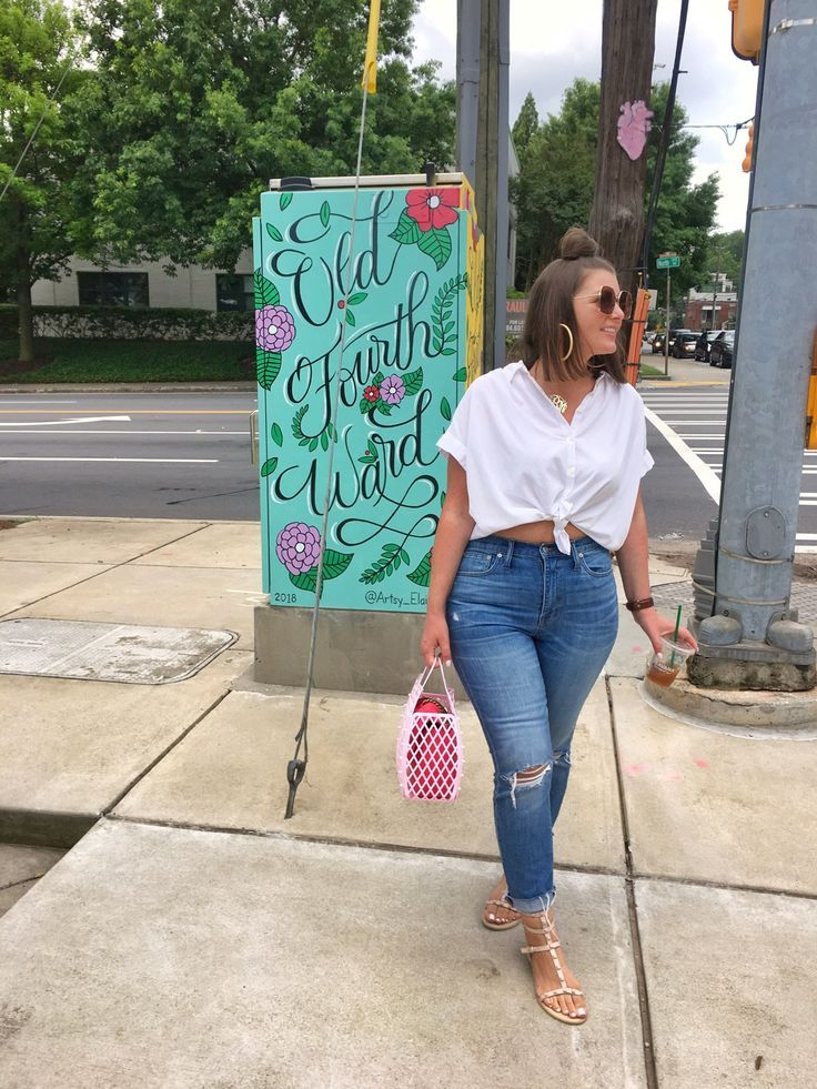 Photo of Summer Fashion: White Top and Slim Boy Jeans • Julia Marie B