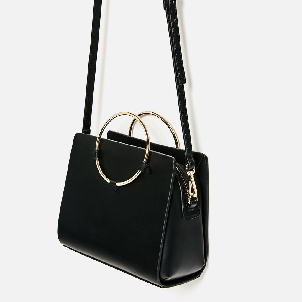 9eeb27945296 Image 4 of METALLIC STRAPS MINI CITY BAG from Zara