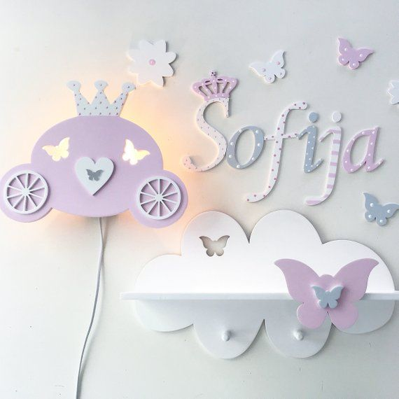 Wall Shelf For Small Princesses дерево Baby Nursery
