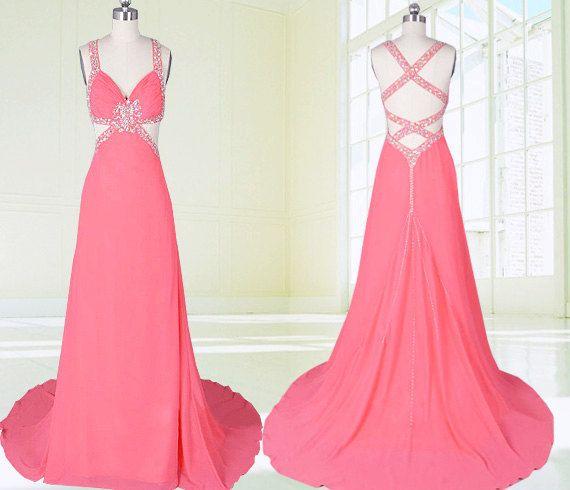 Prom Dress Long Sexy evening Dresses Long Chiffon by CupidBridal