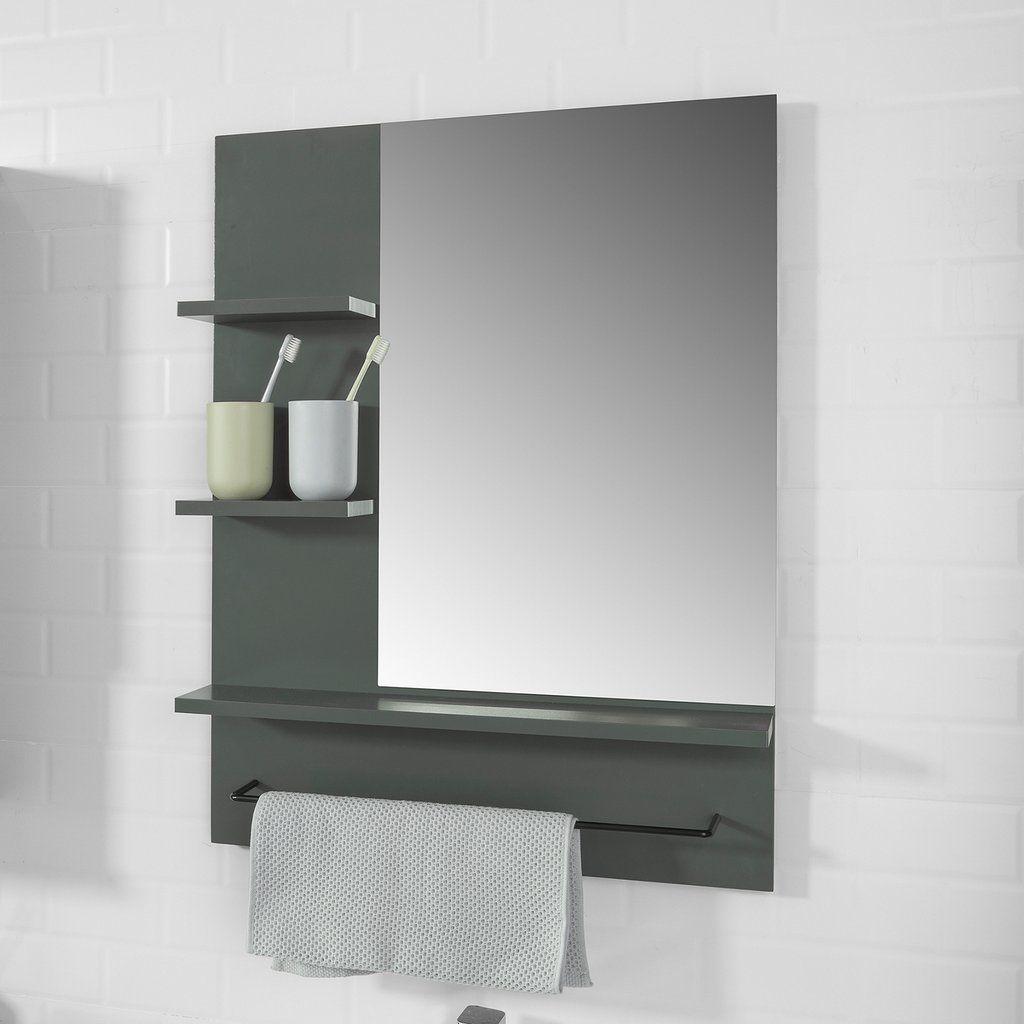 Sobuy Specchio Bagno Con Mensole L60 A78 Cm Con 3 Ripiani E Porta