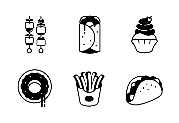 Fast Food Solid Tasty Happy Meal Icons By Chanut Is Industries Happy Meal Drink Icon Fast Food