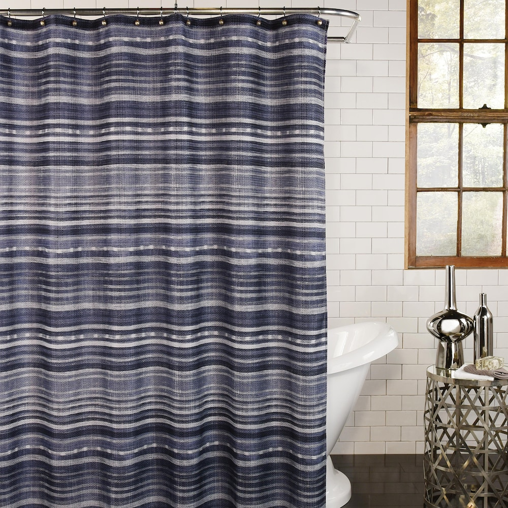 Excell Minouri Shower Curtain Fabric Shower Curtains Shower