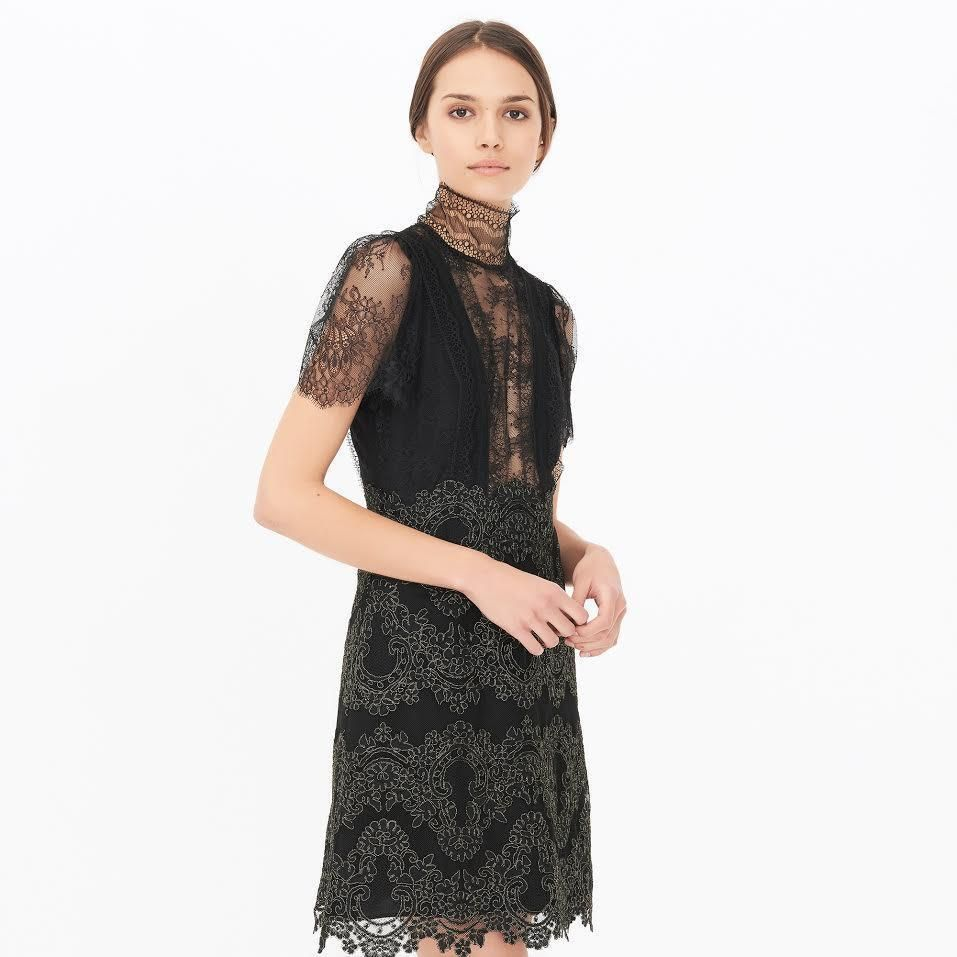 Sandro Poetry High-Neck Lace Dress size 1,