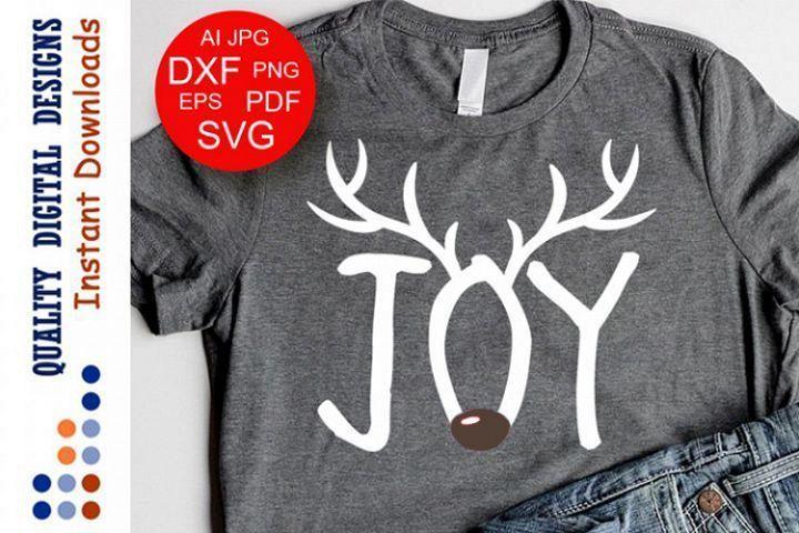 Download Joy quote svg files sayings Christmas Joy Sign Cute Deer# ...