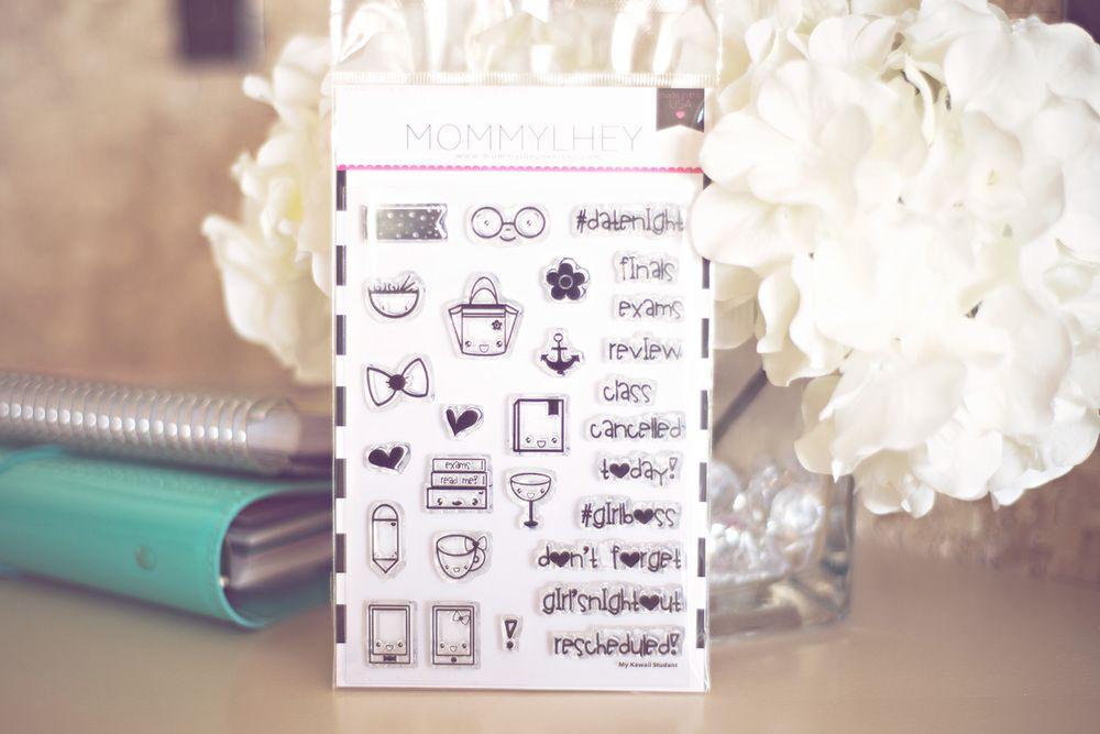 Kawaii Student Planner Stamp - Mommy Lhey Designs