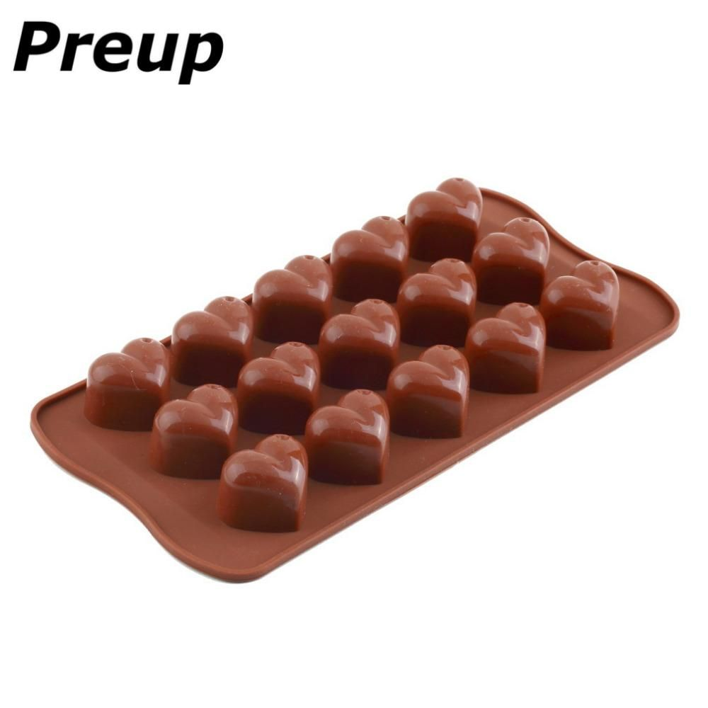 New 3D 15-Tulip Flower Silicone Ice Cube Chocolate Cake Cookie Soap Mould Mold