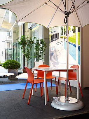 Olivares Aluminum Chair And Stromborg Table In The Knoll Home Design
