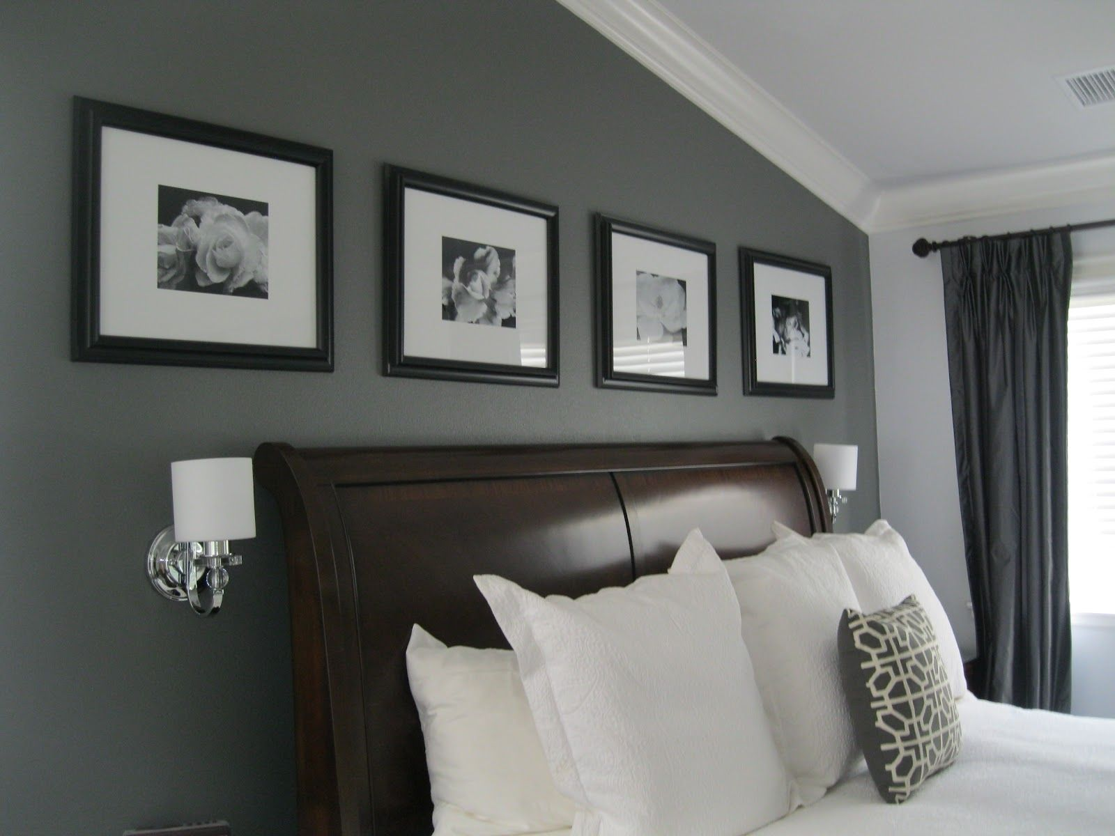 Grey Paint For Bedroom Walls Wall Slate Gray Fashionable Room With Paint Contemporary Family Rooms Bedroom Paint Colors Grey Grey Bedroom Paint