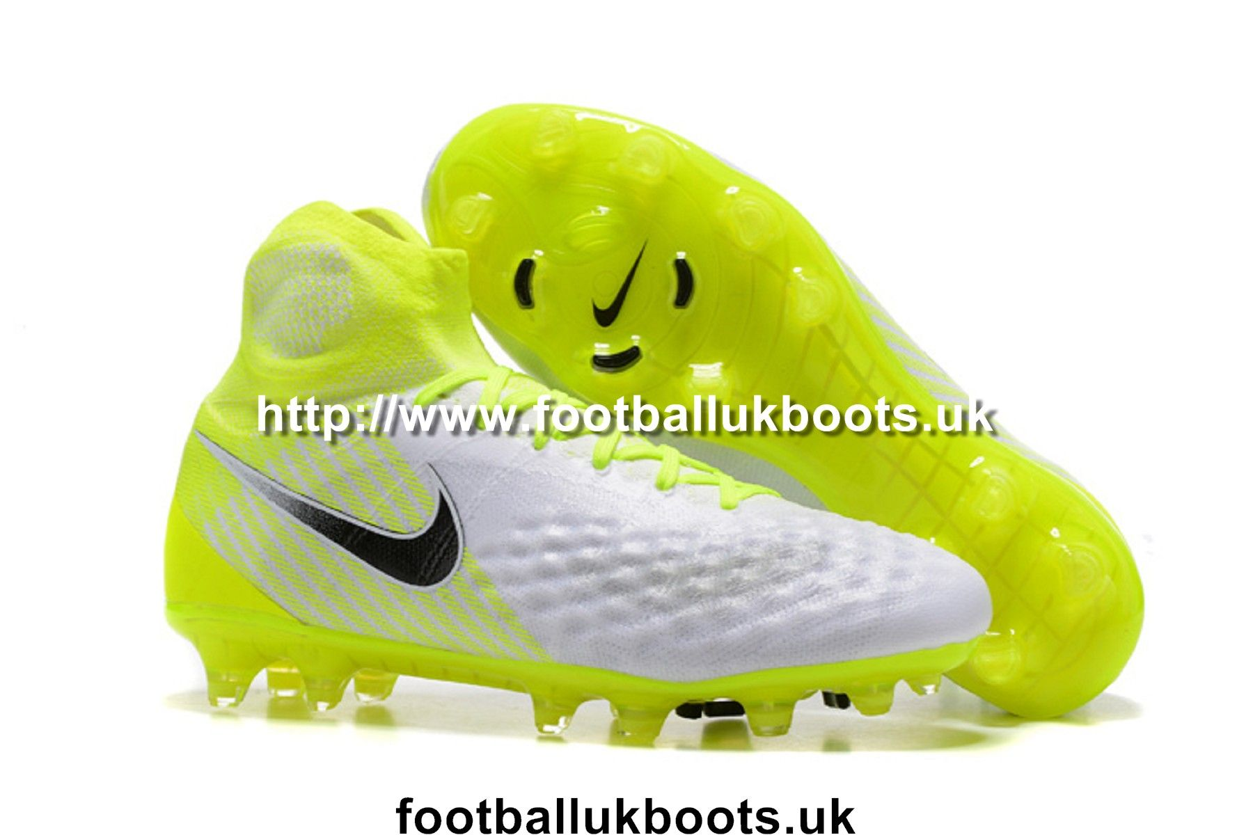 sports shoes 2531d ed710 Coolest Nike Magista Obra II FG Football Boots - White Black Volt