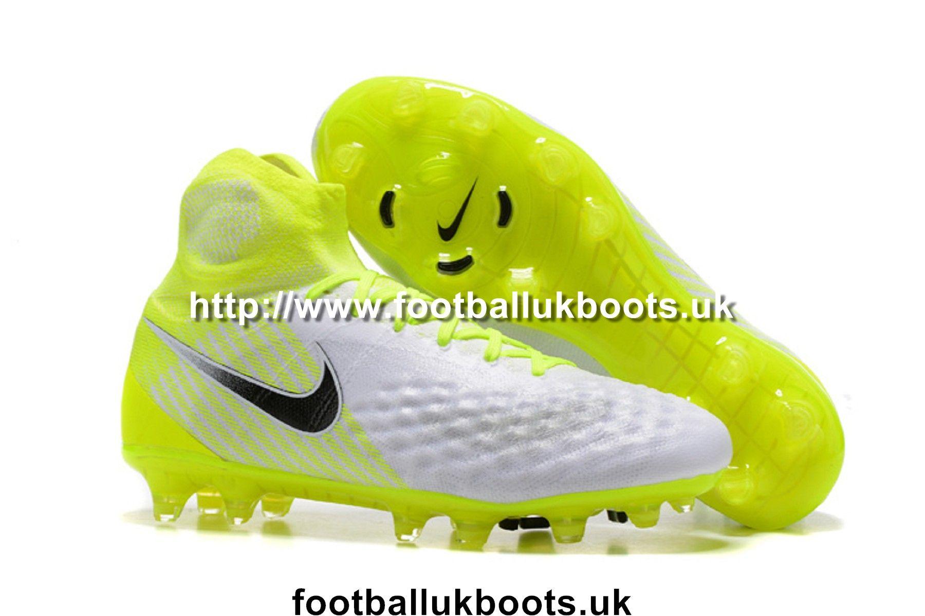 Coolest Nike Magista Obra II FG Football Boots - White/Black/Volt
