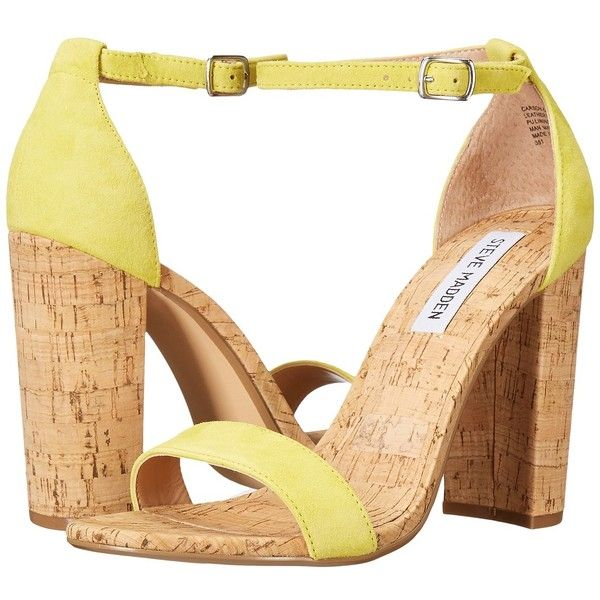 086856039d3 Steve Madden Carson-C (Yellow Suede) Women s Shoes ( 81) ❤ liked on  Polyvore featuring shoes