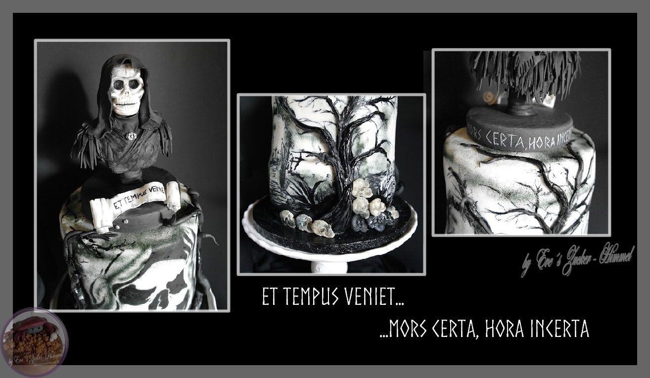 """Meine Fondant Helloween -Birthday Cake  """" ET TEMPUS VENIET """""""