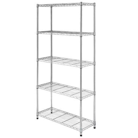 Remarkable Ktaxon 5 Tier Wire Rack Metal Shelf Adjustable Unit Garage Download Free Architecture Designs Rallybritishbridgeorg