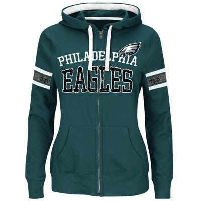 official photos 231cc 77bdd Philadelphia Eagles Majestic Women's Pure Heritage VI Full ...