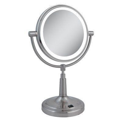 Zadro Led Lighted 5x 1x Satin Nickel Vanity Mirror Ledv45