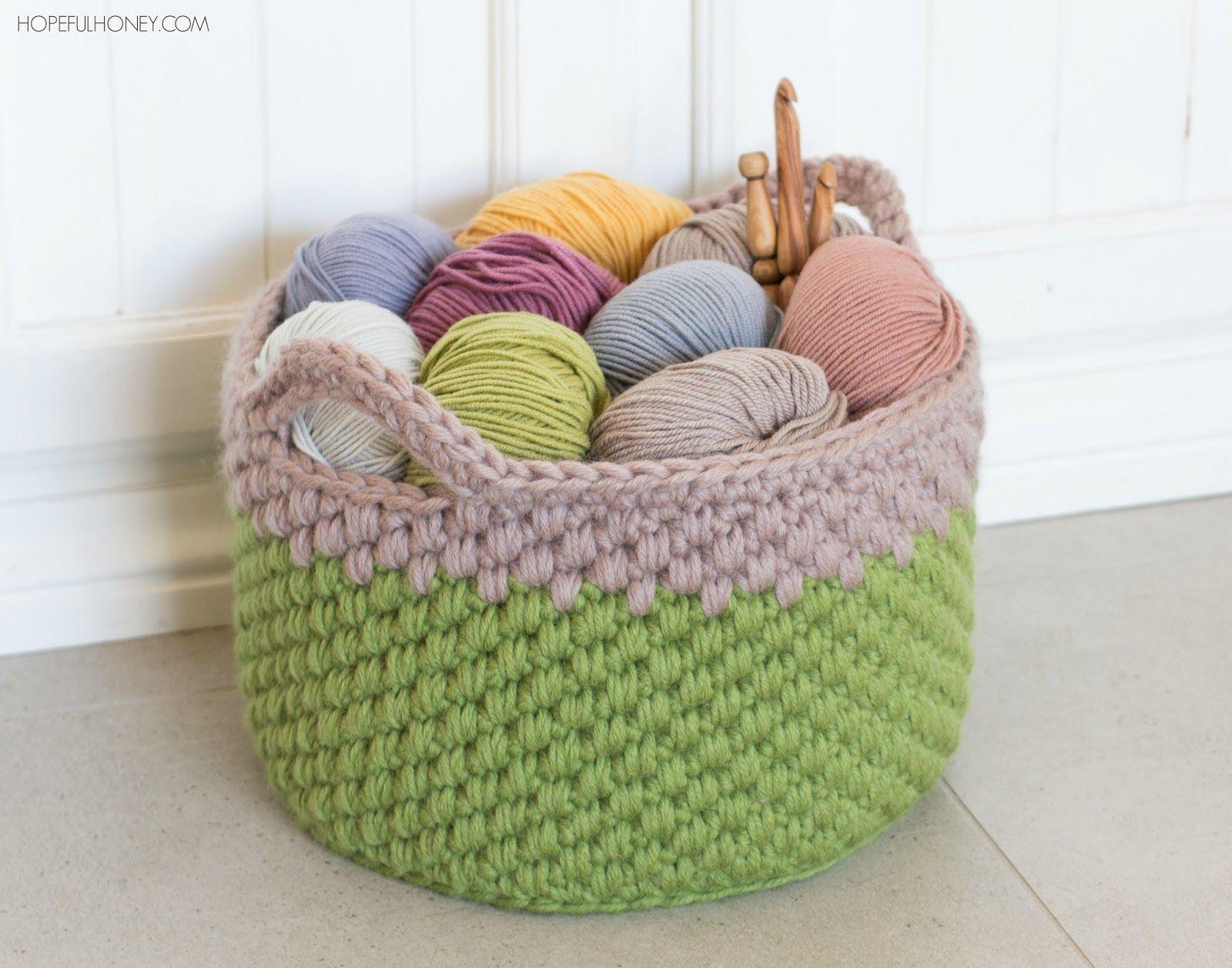Woodland Moss Chunky Basket - Crochet Pattern by | Pinterest ...