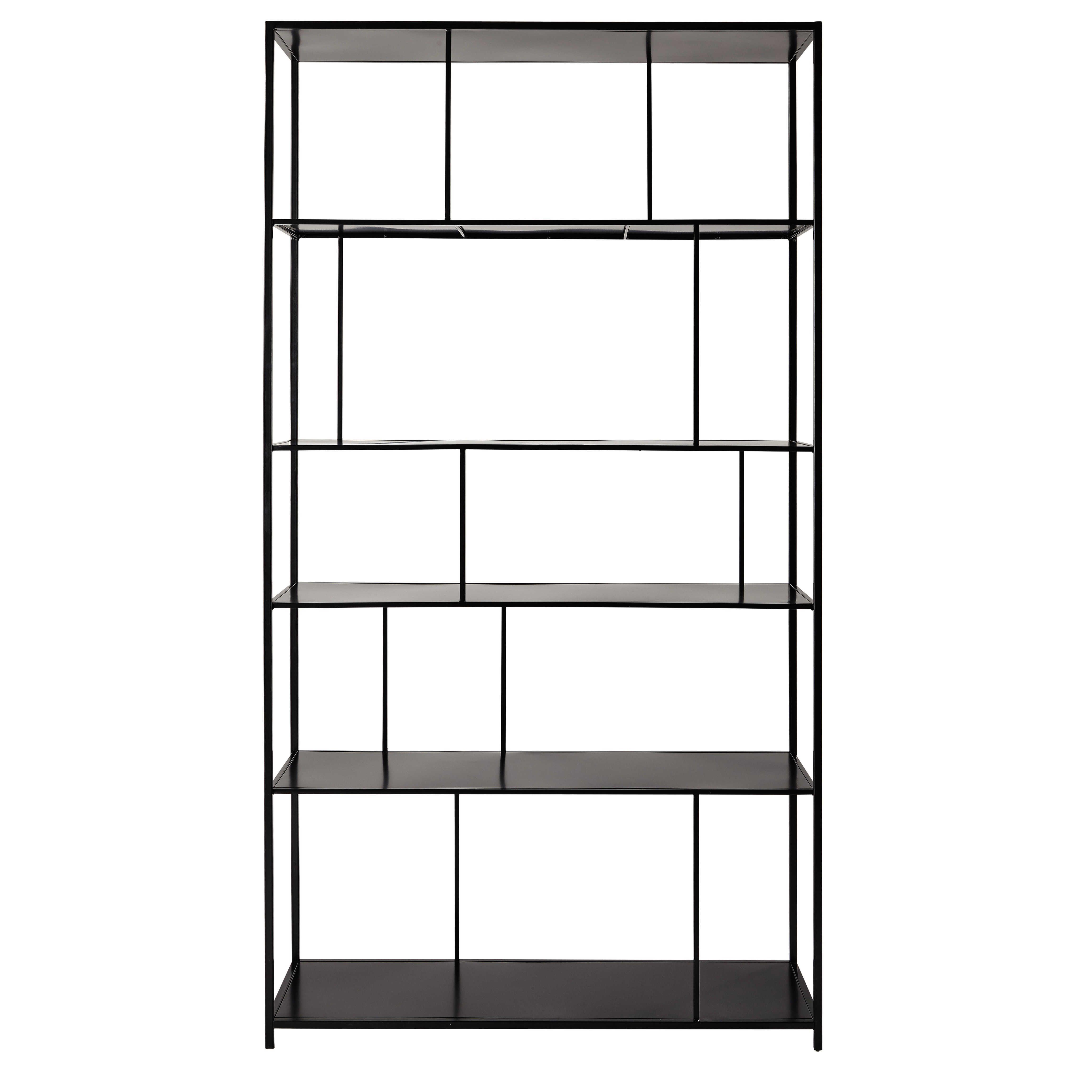 tag re en m tal noire l 107 cm simply la maison pinterest etagere en metal m tal noir et. Black Bedroom Furniture Sets. Home Design Ideas