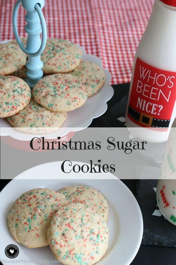 Christmas Sugar Cookies- 100 Days of Homemade Holiday Inspiration