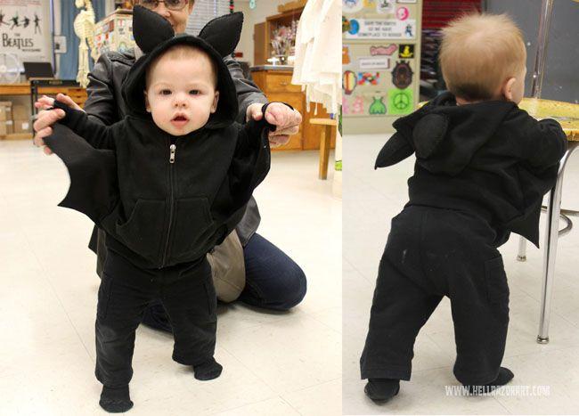 A DIY Halloween Baby Bat.