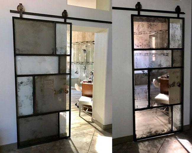 Artistic Antique Mirror Barn Door And Hardware Home Dcor