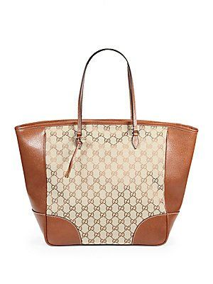 e2f358629 Gucci Brown Bree Original Gg Canvas Leather Tote Handbag New in 2019 ...