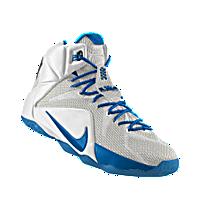54c01c56aaf4 I designed the white Nike LeBron 12 iD men s basketball shoe with photo blue  trim.