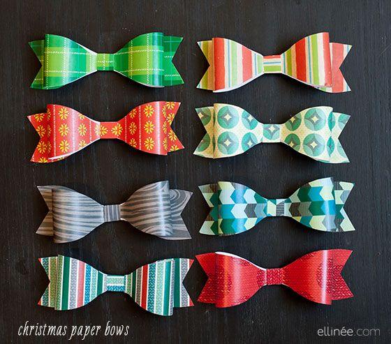 Hermosos lazos para navidad.. | Christmas | Pinterest | Paper bows ...