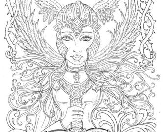 Guardian Angel coloring page | Sunday school coloring pages, Angel ... | 270x340