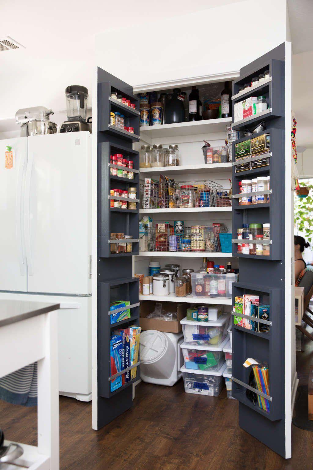The 10 Best Pantry Hacks On Pinterest For Organizing Your Costco Haul Pantry Door Storage Diy Storage Shelves Pantry Storage
