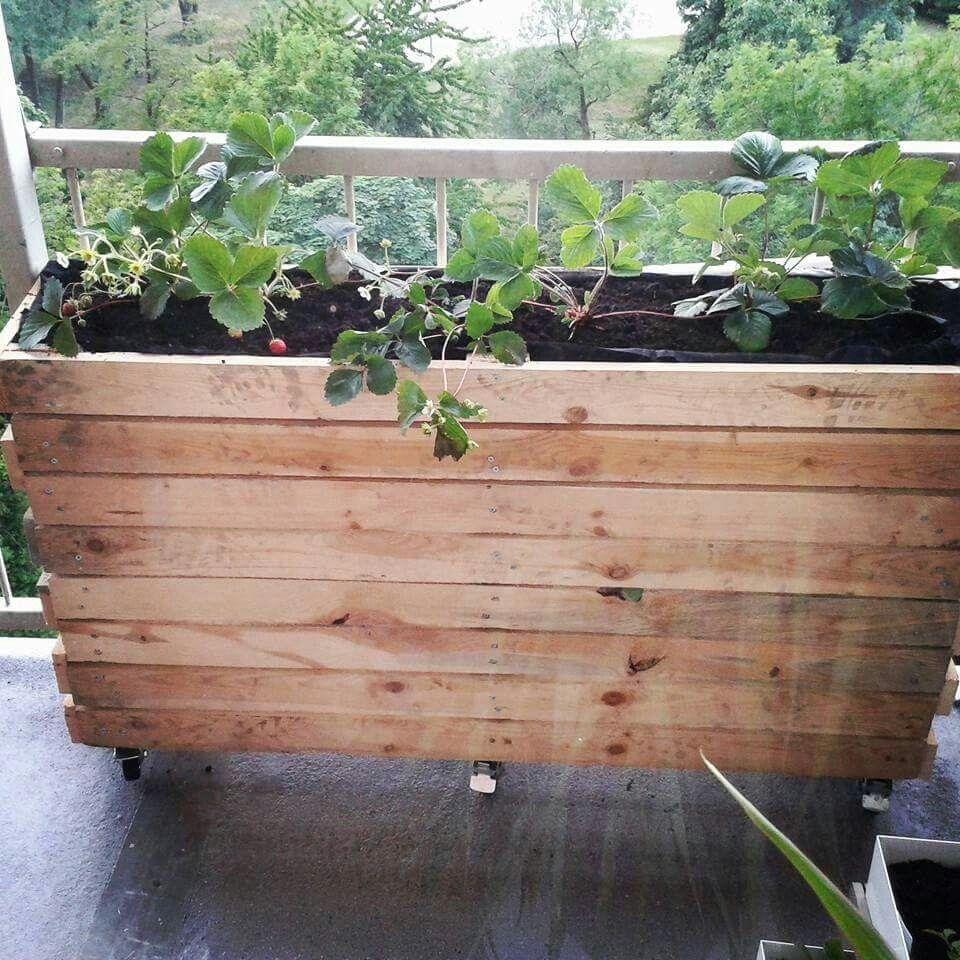 Onwijs Plantenbak van pallets (met afbeeldingen) | Houten plantenbakken NR-04