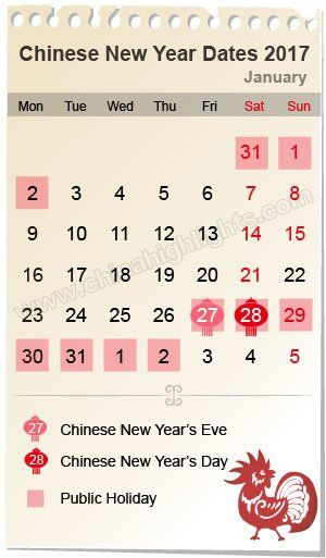 chinese new year date 2017 - Chinese New Year Date