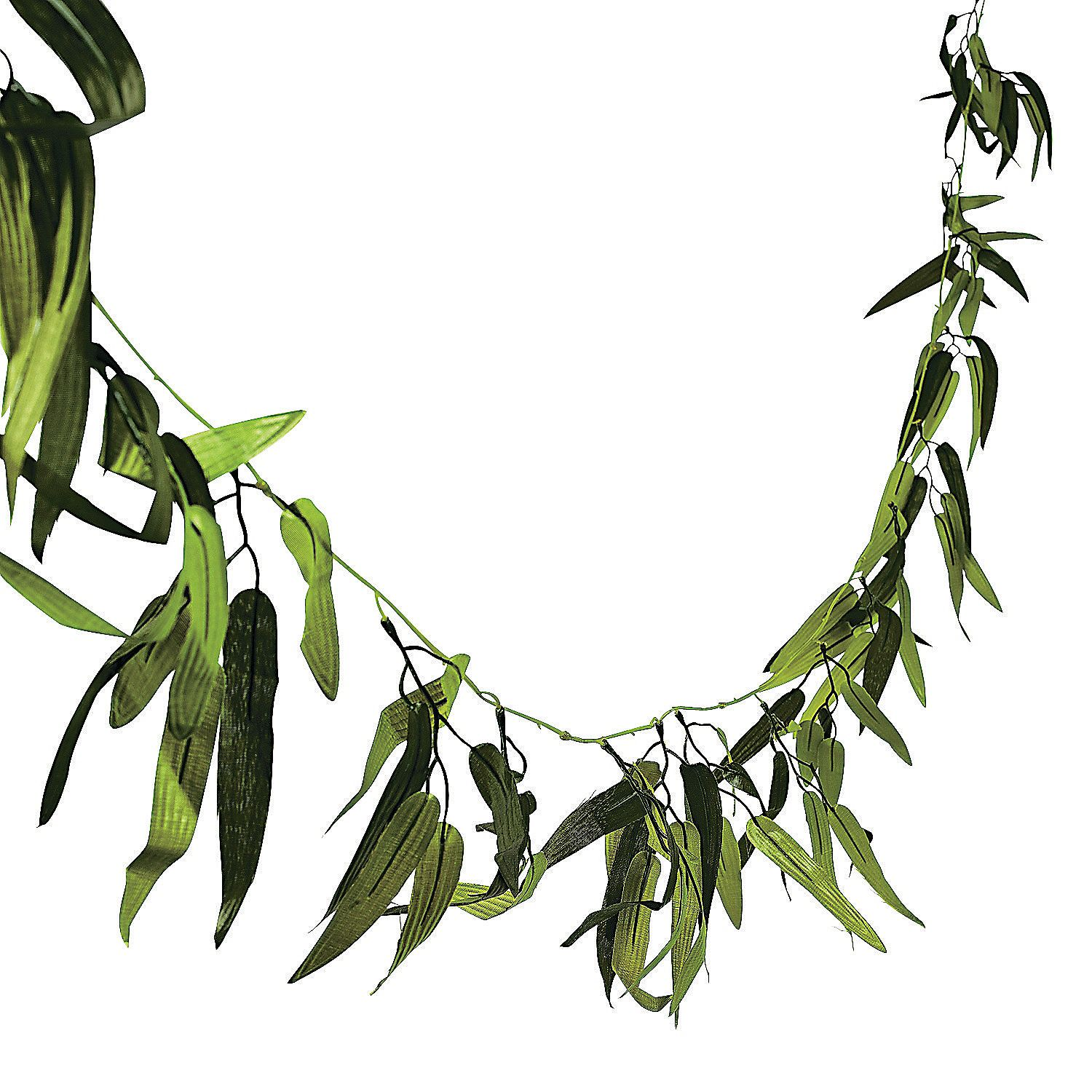 Bamboo garland garlands leis and birthdays for Artificial seaweed decoration