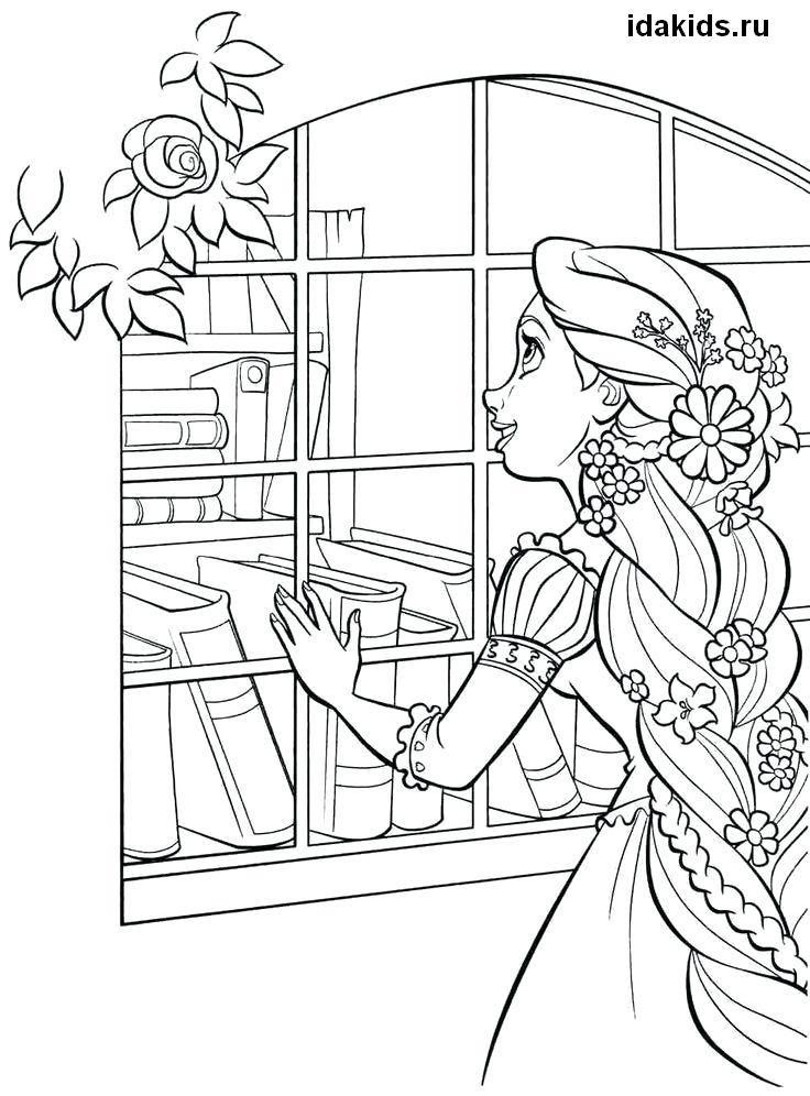 Раскраски Рапунцель Принцесса: Распечатать бесплатно в ...