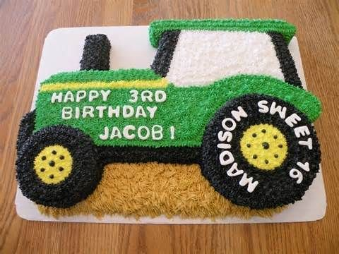 Image Result For Pictures Of Tractor Birthday Cakes