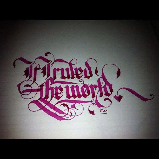 dannyfox @Danny Fox |  #lettering #calligraphy