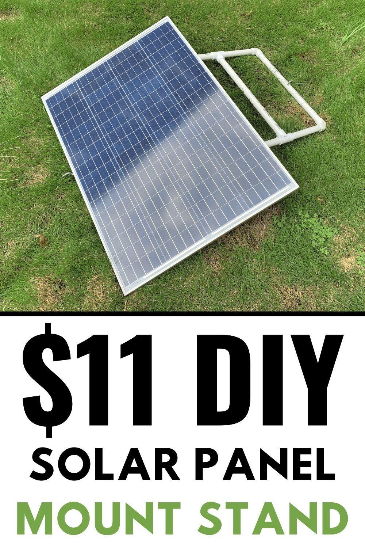11 Diy Adjustable Solar Panel Mount In 2020 Solar Panel Mounts Solar Panels Diy Solar Panel